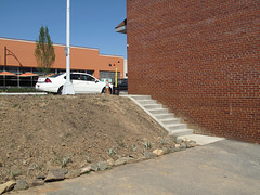A new staircase downtown, to launch you up the dirt embankment, onto the streetlevel and beyond.
