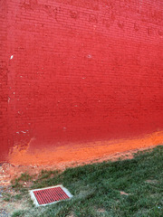 A view upon some of the famously orange dirt of the Piedmont region of the southern U.S.