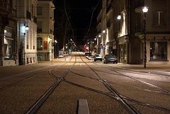 BESANCON:Fin des travaux du tram: Avenue Carnot. 2014.02.16