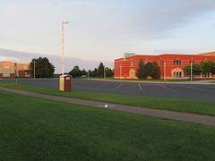 A rich suburban schoolyard.