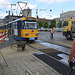 Leipzig 2013 – Tram 2141 passing some repair works