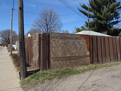 Contact the owners and ask them how come there's a picture of their Oriented Strand Board fence-patching job on the internet.