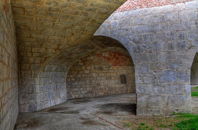 BESANCON: La citadelle: des fortifications.