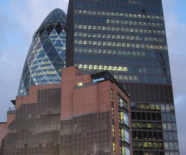 30 St Mary Axe and Commercial Union Building
