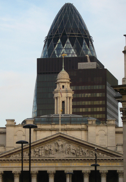 Royal Exchange, P&O Building, Commercial Union Building, 30 St Mary Axe