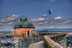 BESANCON: La citadelle: la tour du roi.  (HDR)