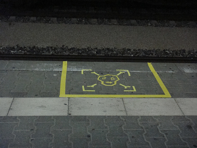 Yellow Tape Platform Art