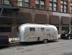 Airstream of downtown Detroit on-street parking.