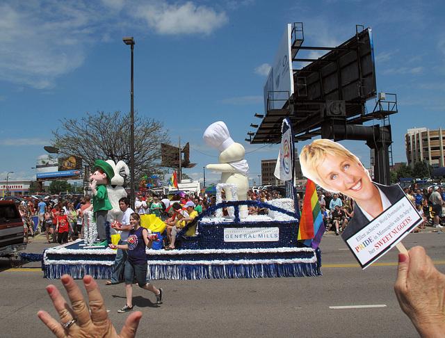 The Pillsbury Doughboy, glbtq-lgbtq pride parade participation.