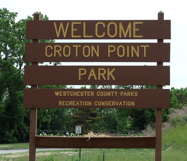 Croton Point Park Sign, June 2007