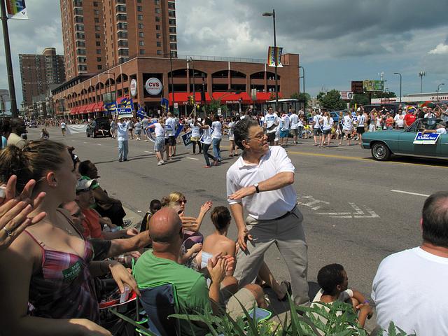 Al Franken Minneapolis Gay Day Parade, our celeb federal Senator Saturday Night Live.