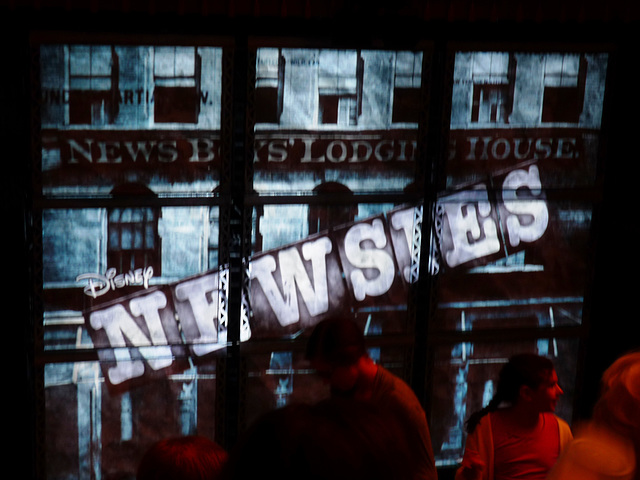 waiting for Newsies to start