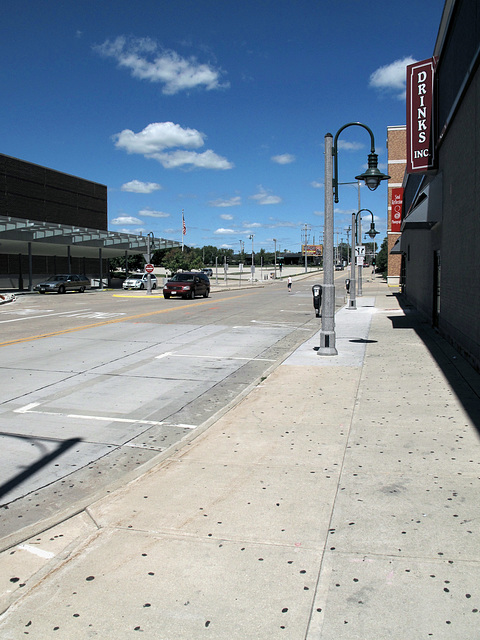 Downtown Appleton Wisconsin would be pretty to look at if it weren't for the old dirty wads of blackened chewing gum everyplace.