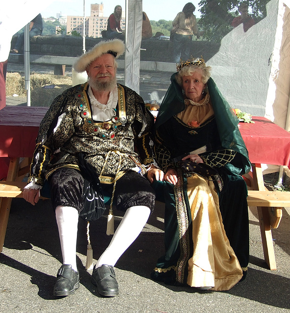 King and Queen at the Fort Tryon Park Medieval Festival, Sept. 2007
