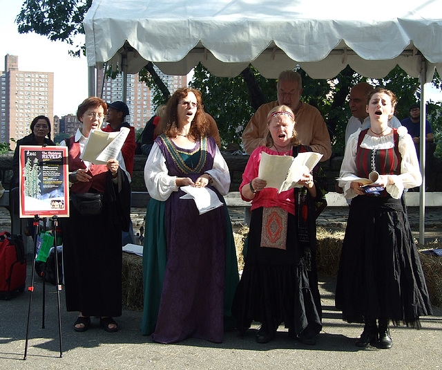 The Christmas Revels Singers at the Fort Tryon Park Medieval Festival, Sept. 2007