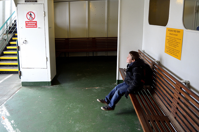 Dylan on the Woolwich Ferry