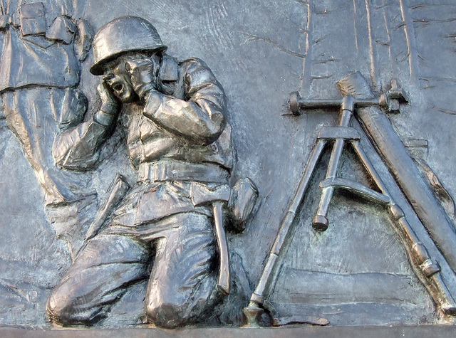 Relief on the WWII Memorial, September 2009