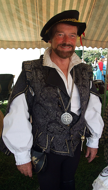 Lord Llewellan at the Fort Tryon Park Medieval Festival, Sept. 2007