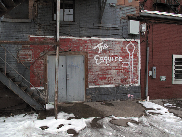 The 'esquire of the trash alleys' of downtown Charleston, West Virginia.