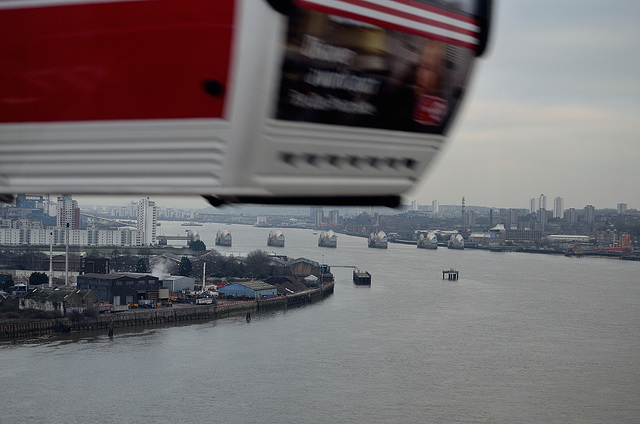 Thames Barrier from cable car
