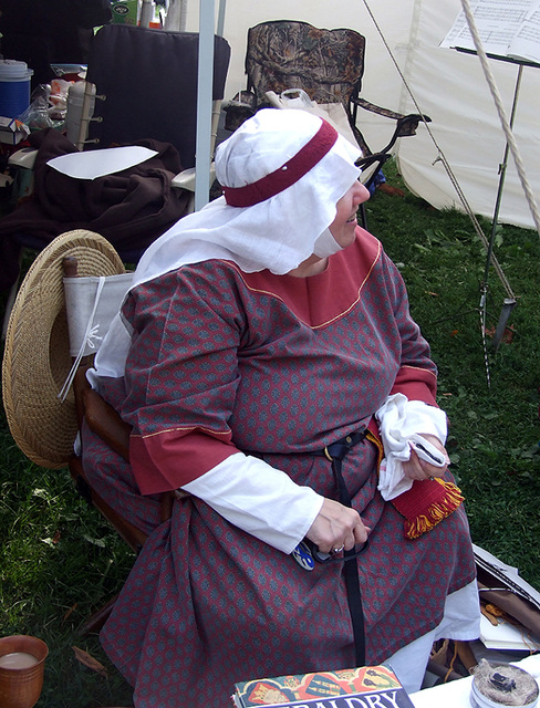 Lady Brithwen at the Fort Tryon Park Medieval Festival, Sept. 2007