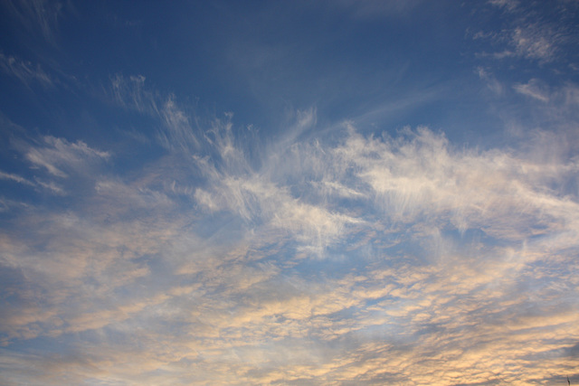 Late afternoon cloud formations