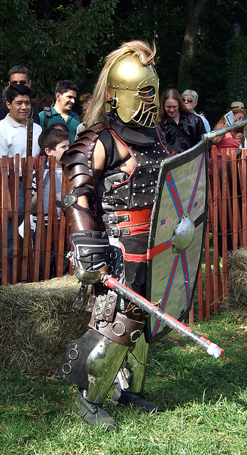 Ryan in Armor at the Fort Tryon Park Medieval Festival, Sept. 2007