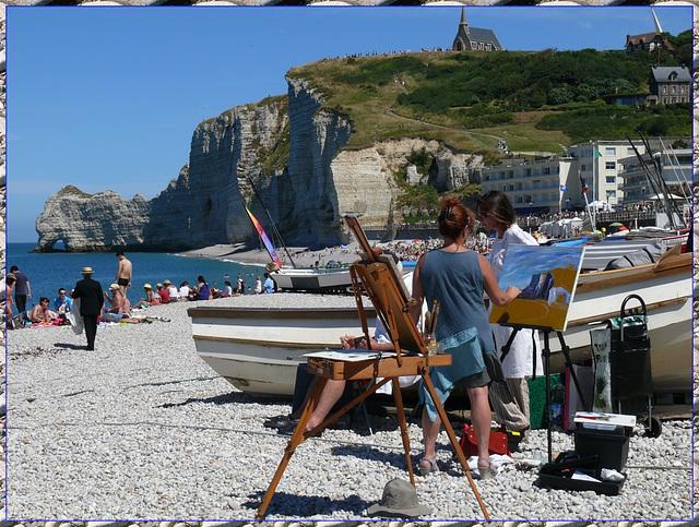 Peinture sur plage