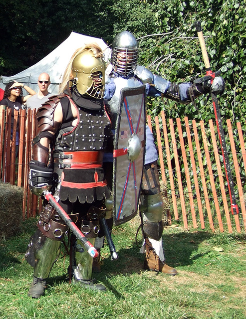 Ryan & Ervald Ready to Fight at the Fort Tryon Park Medieval Festival, Sept. 2007