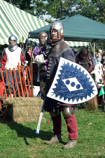 Fighter at the Fort Tryon Park Medieval Festival, Sept. 2007