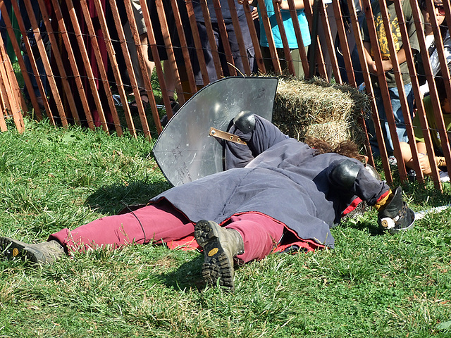 Fallen Fighter at the Fort Tryon Park Medieval Festival, Sept. 2007