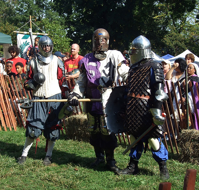 Viceroy Alexandre and Other Fighters at the Fort Tryon Park Medieval Festival, Sept. 2007