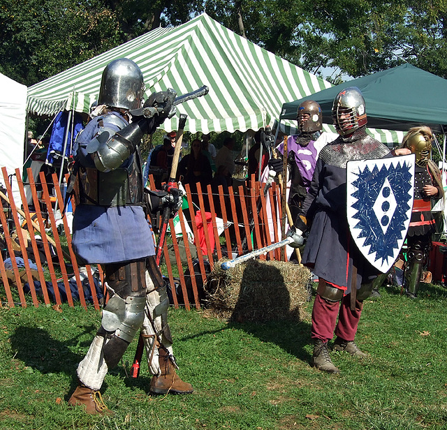 Lord Ervald Fighting at the Fort Tryon Park Medieval Festival, Sept. 2007