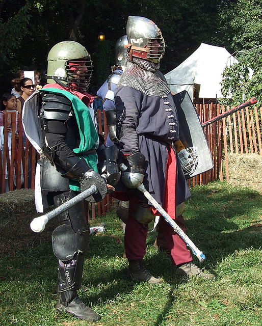 Avran and Other Fighters at the Fort Tryon Park Medieval Festival, Sept. 2007