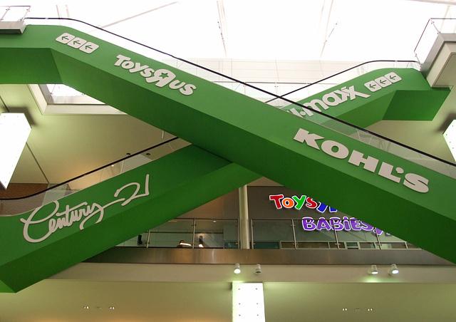 Escalators in Rego Center, January 2011