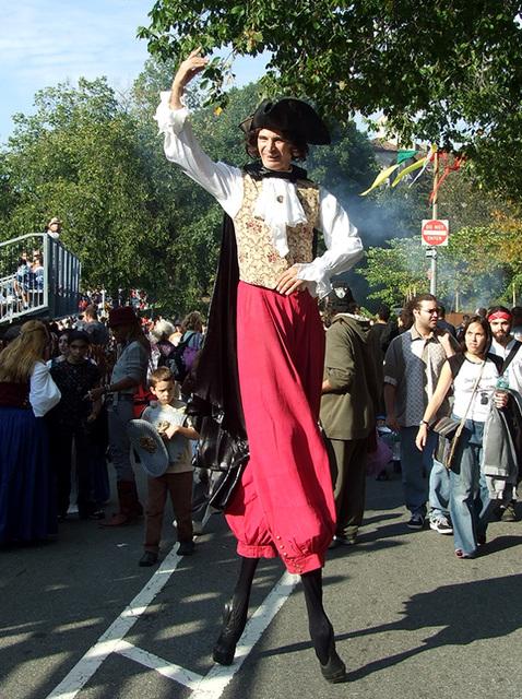 Stilt Walker at the Fort Tryon Park Medieval Festival, Sept. 2007