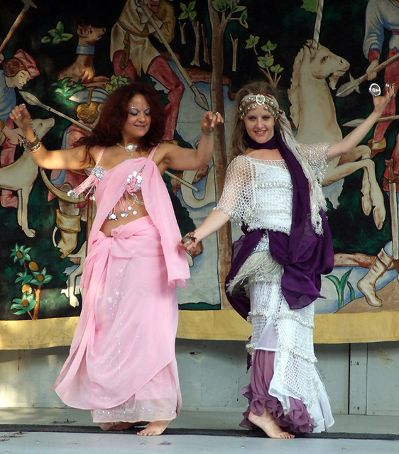 Belly Dancing at the Fort Tryon Park Medieval Festival, Sept. 2007