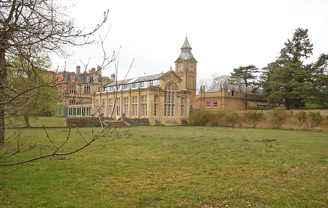Orangery and stable tower, Bylaugh Hall, Norfolk