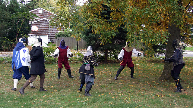 Two-On One Fencing Bout at Agincourt, November 2007