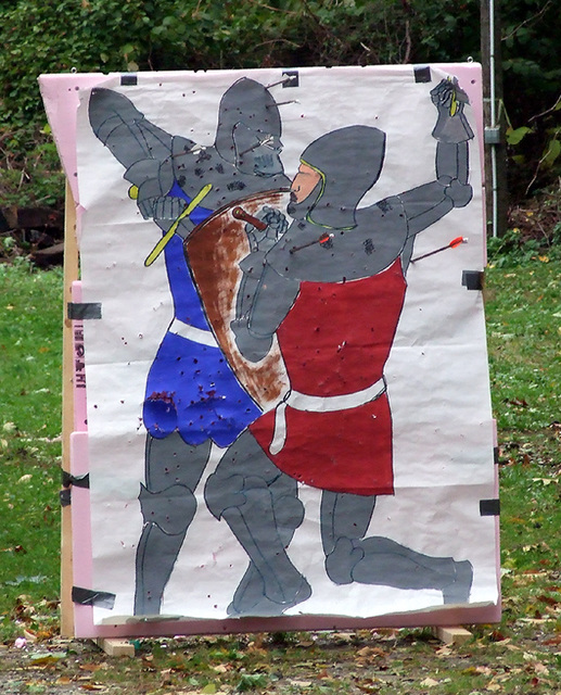 The French vs. the English Archery Target at Agincourt, November 2007