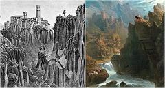 "M. C. Escher's allusion to John Martin's ""The Bard"""
