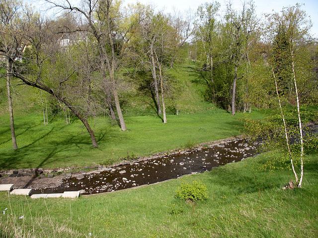 Miller Creek in Duluth is looking kind of crazey-looking today.