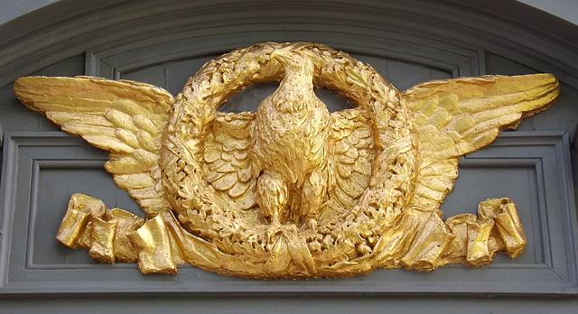 Detail of an Eagle on Sagamore Hill, May 2012