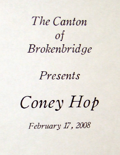 Sign for the Coney Hop Event, February 2008