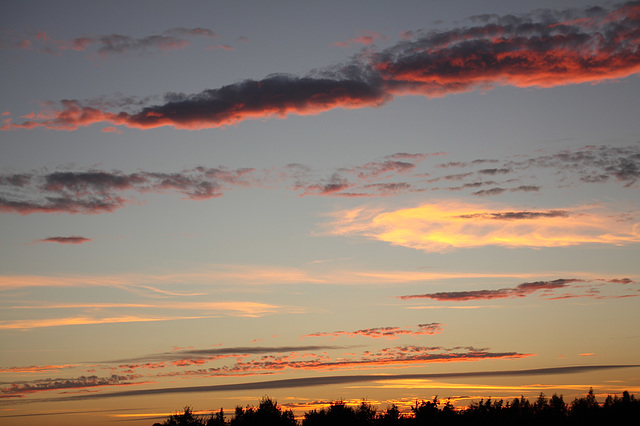 Sunset cloud formations