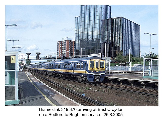 Thameslink 319 370 - East Croydon 26.8.2005
