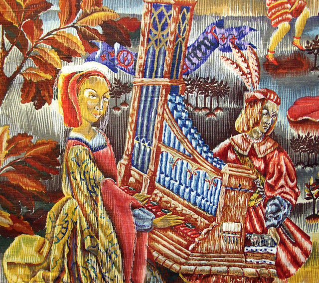 Detail of one of the Tapestry Decorations at the Coney Hop Event, February 2008