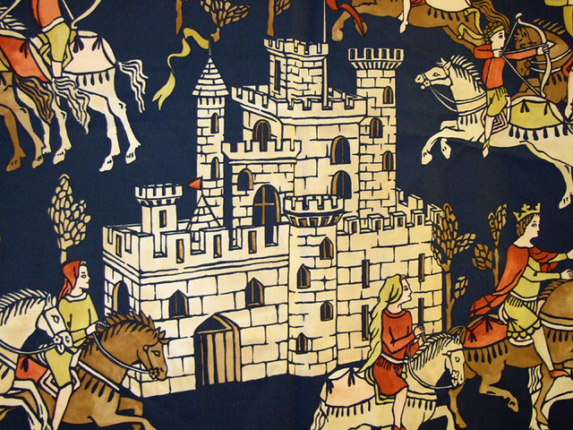 Detail of a Castle on a Wall Hanging Decoration at the Coney Hop Event, February 2008