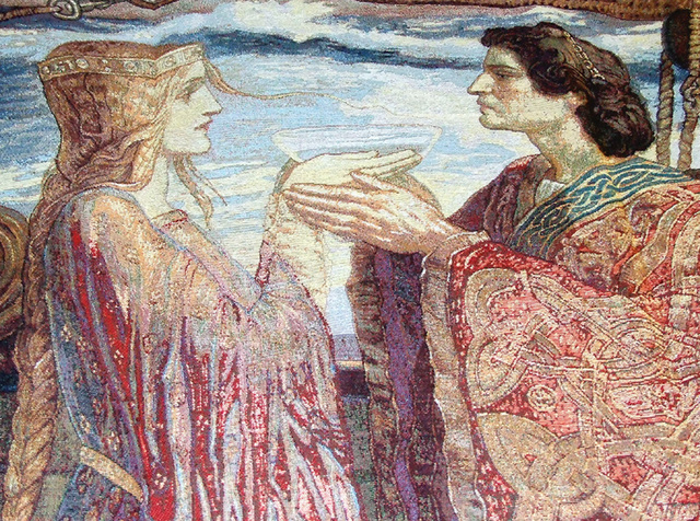 Detail of the Tristan and Isolde Tapestry Decoration at the Coney Hop Event, February 2008