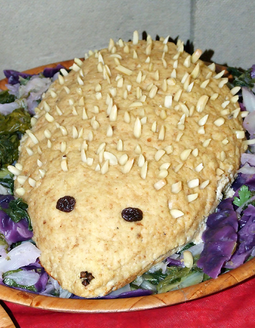 Edible Hedgehog at the Coney Hop Event, February 2008